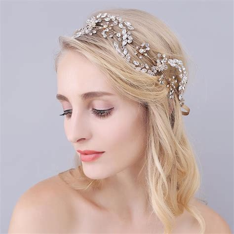 hair jewelry for a wedding luxury headpieces crystal head piece vintage bridal gold