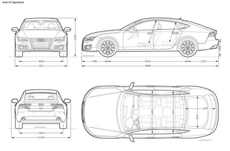 image gallery car measurements image gallery dimensions a7