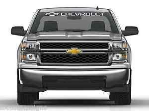 chevrolet windshield decal silverado windshield decal ebay
