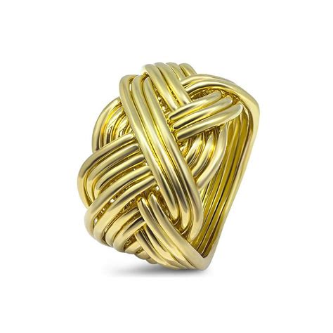 mens gold 14b m puzzle rings creations