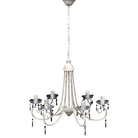 Vidaxl Co Uk Antique White Metal Chandelier 8 X E14 Bulbs Vidaxl Co Uk Pendant Ceiling L Chandelier White 6 Bulb Sockets