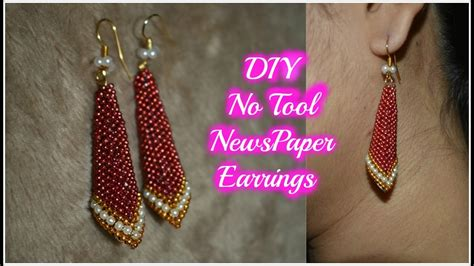 diy best out of waste newspaper earrings how to make paper