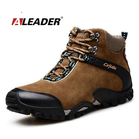 mens outdoor boots mens leather hiking boots waterproof shoes 2015 autumn