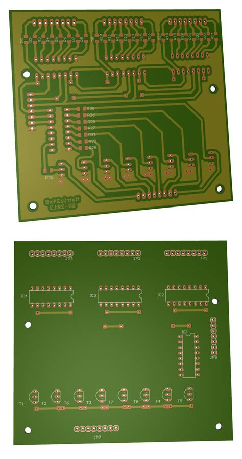 Bor Pcb 24x6 led matrix circuit electronics lab