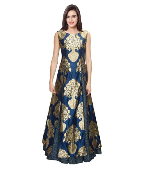 chagne silk gowns kmozi blue silk gown buy kmozi blue silk gown at