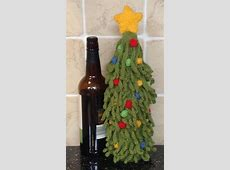 Christmas Tree Wine Bottle Cover Knitting pattern by ... James Harding Facebook
