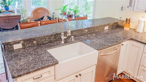 Kitchen Island Peninsula Blue Pearl Gt Granite Kitchen Countertops