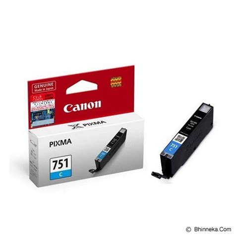 Tinta Printer Canon Ip7270 Jual Canon Cyan Ink Catridge Cli751c Murah Bhinneka