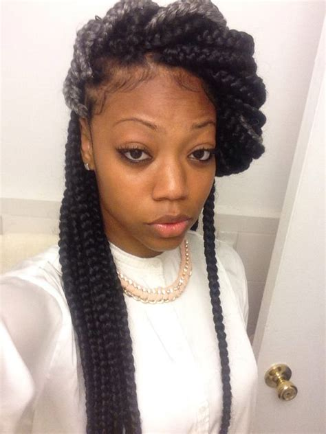 find gray marley braids very cute box braids style with gray naturalhair
