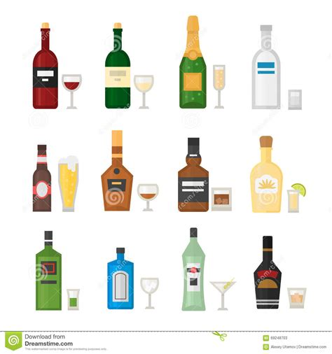 alcohol vector bottle of alcohol illustration royalty free illustration