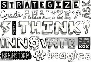 doodle text thinking doodles text vector getty images
