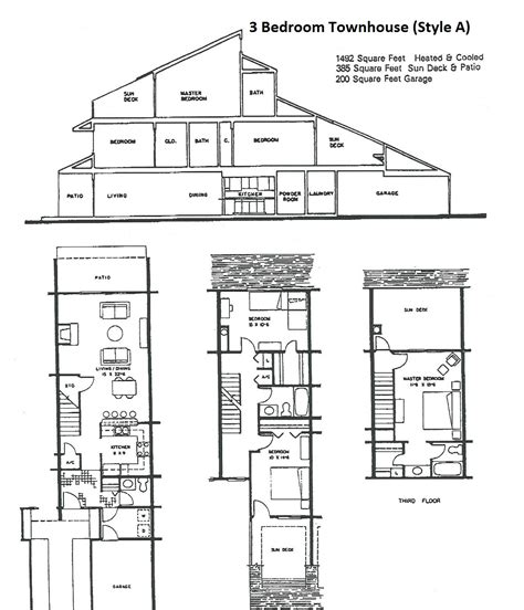 townhouse floor plan ahscgs com townhouse floor plans ahscgs com
