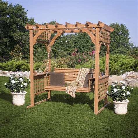 pergola swings 15 beautiful wooden swings home design garden