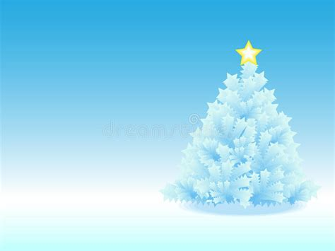 icy christmas tree  blue gradient background stock illustration illustration  christmas