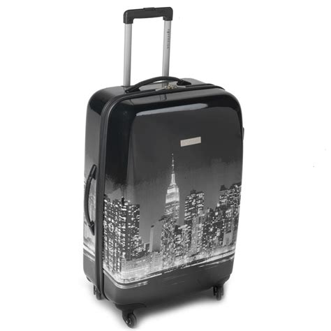 new york city printed hardshell suitcase 80cm luggage