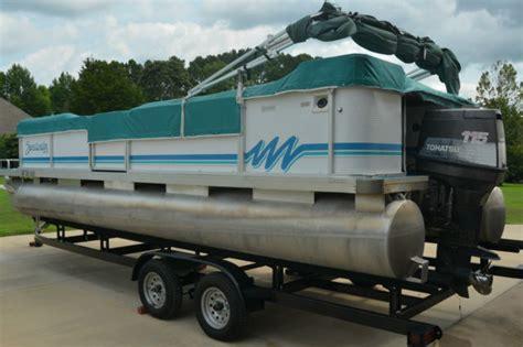 24 foot pontoon trailer 24 foot godfrey sweetwater pontoon with dual axle trailer