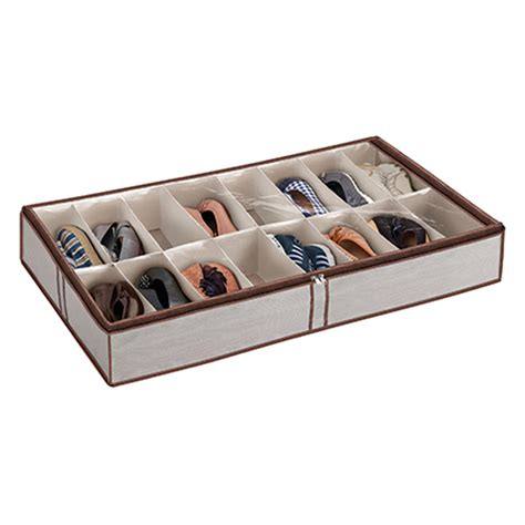 under the bed shoe rack simple 16 pair under bed shoe organizer with grey fabric