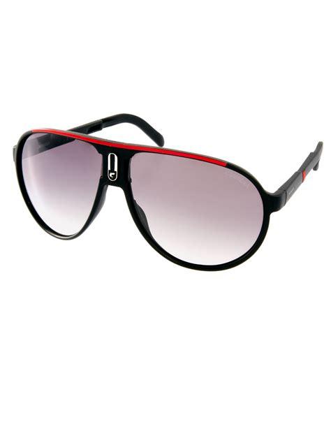 carrera sunglasses carrera aviator foldable sunglasses in black for men lyst
