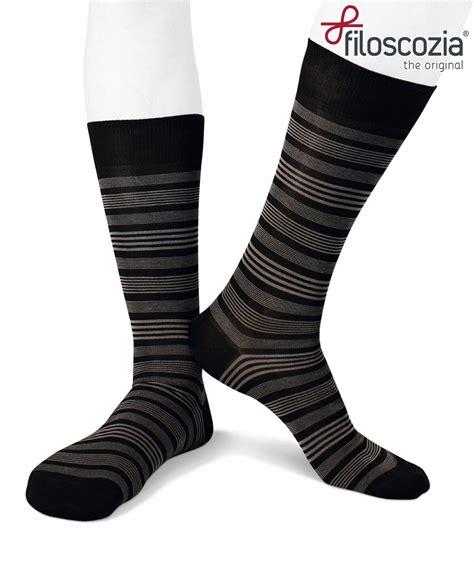 short cotton men socks stripes black