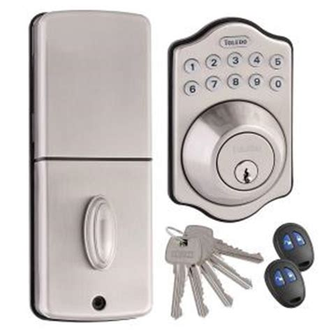 toledo locks electronic deadbolt in satin stainless