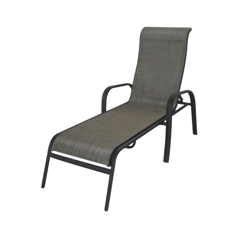 chaise lounge patio shop garden treasures burkston sling chaise lounge patio