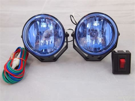universal round fog lights universal 3 quot 12v h3 55w round fog lights driving lamps kit