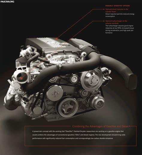mercedes diesotto inline 4 engine concept