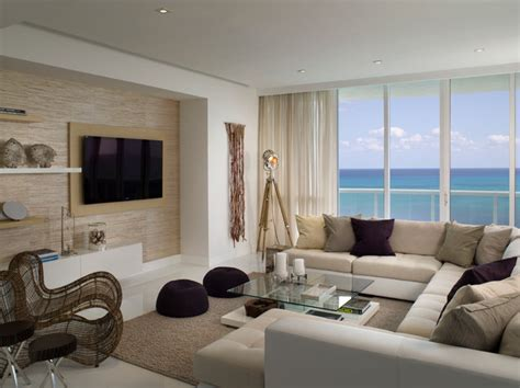 Miami Beach Penthouse Beach Style Living Room Other | miami beach penthouse beach style living room miami