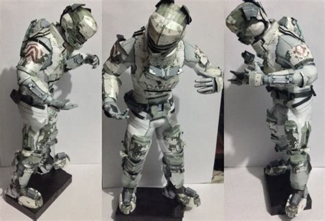 Dead Space Papercraft - dead space 2 isaac arctic security suit papercraft