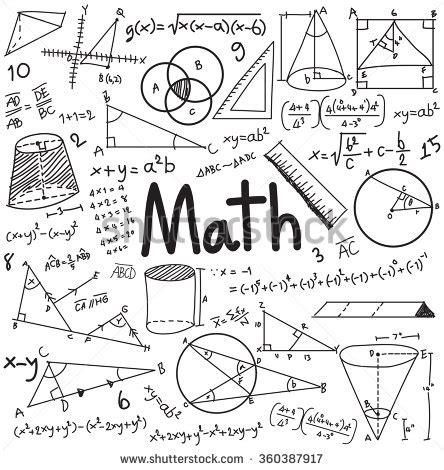 math doodle ideas math theory and mathematical formula equation doodle
