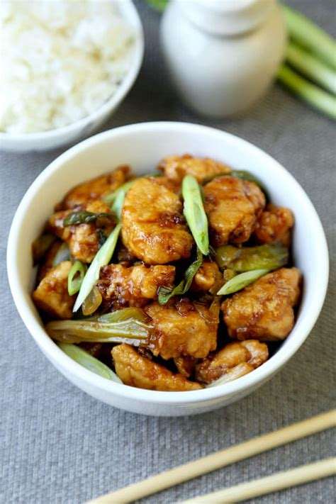 mongolian chicken recipe pickled plum food and drinks