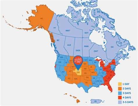 usa map ups shipping details and faqs stickergiant