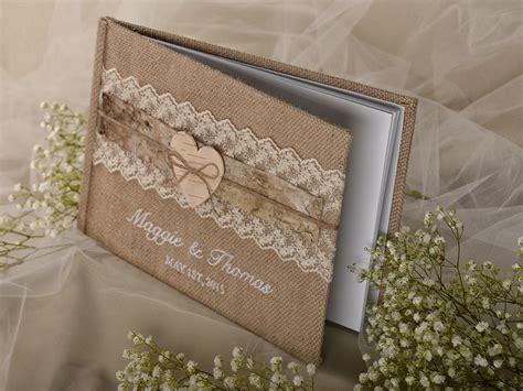 shabby chic wedding guest book idea modwedding