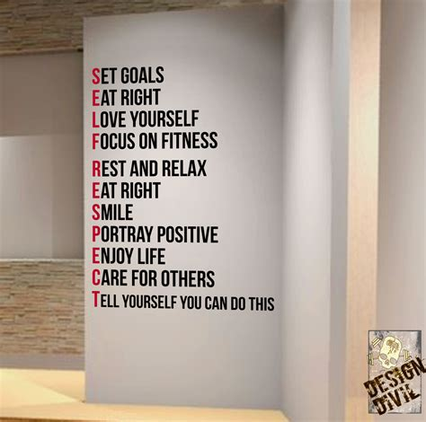 Wall Stickers Design Your Own set goals you can do this wall fitness decal quote gym