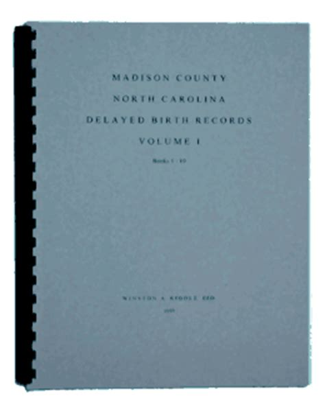 Raleigh Nc Birth Records County Carolina Delayed Birth Records Vol I