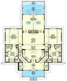 dual master suites 58566sv 1st floor master suite cad plan 59638nd two master suites