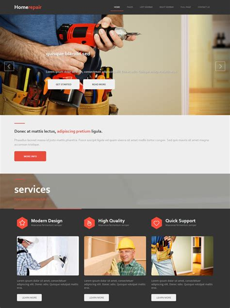 home repair sites home repair html template home renovation website templates dreamtemplate