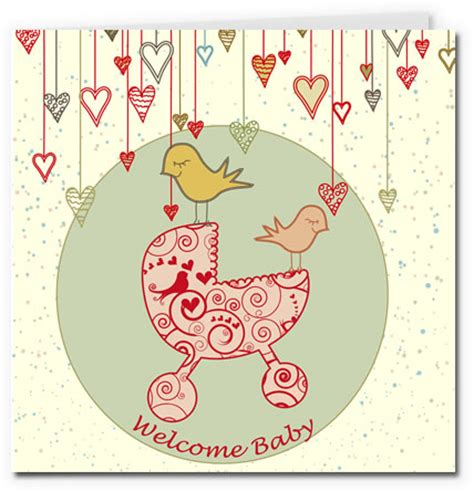 new baby greeting card template free printable baby cards gallery 2