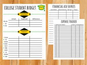 college student budget template college budget template free printable for students