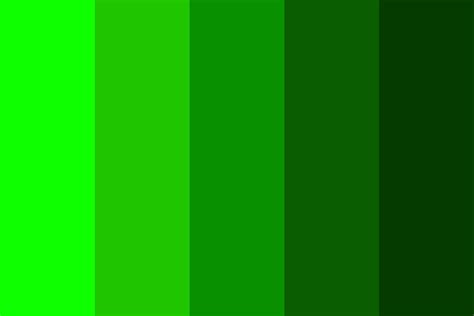 green color palette light green to green color palette