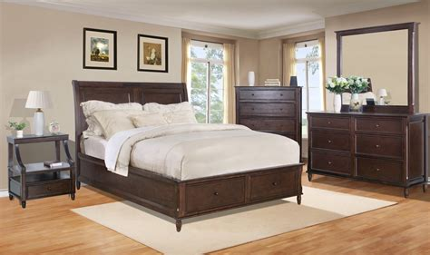 birch bedroom furniture avignon birch cherry storage bedroom set from jofran