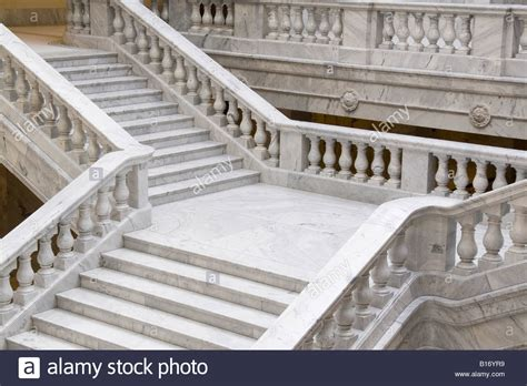 marble staircase marble staircase in the utah state capitol building stock