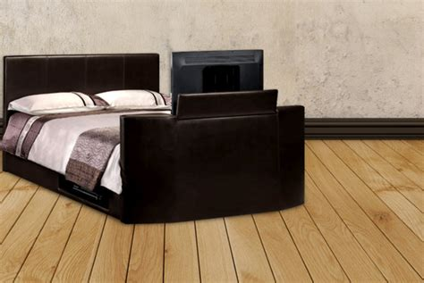 Tv Storage Bed Frame Wowcher Deal 163 399 95 Instead Of 163 1099 From Fishoom For A King Size Faux Leather Tv Bed