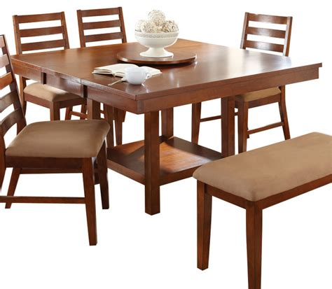 kitchen table with lazy susan steve silver dining table with 18 inch lazy susan in
