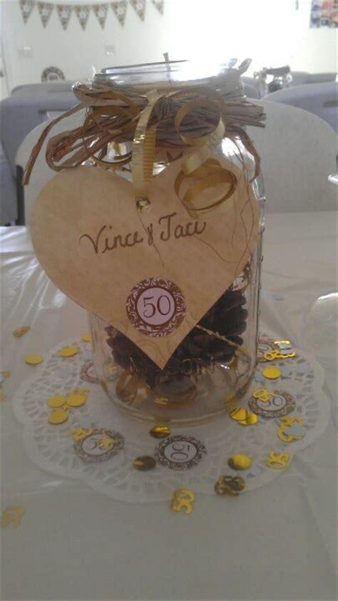 50th anniversary centerpiece   wedding decor   Pinterest