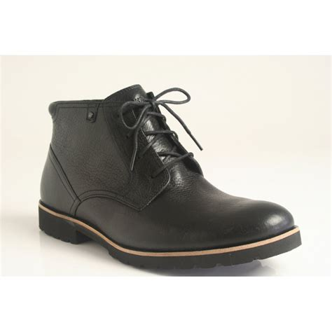 rockport boots rockport ledge hill lace up boot in soft grain black