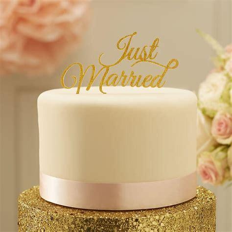 Tortendeko Hochzeit by Tortendeko Just Married Schriftzug In Gold Weddix De