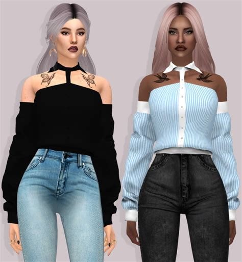 download hair and clothes for sims 4 lumysims hot blooded shirt with sleeves sims 4 downloads
