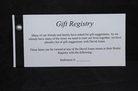 Wedding Gift Registry Message by Gift Registry Card Exles Images Cv Letter