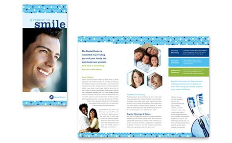 microsoft office brochure templates dentistry dental office brochure template word publisher
